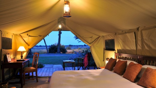 Inside one of the tents at Sweetwaters Serena Camp.