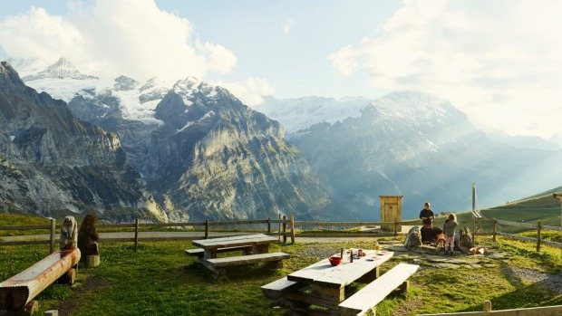 Alpine views, Switzerland: These mountains make you want to spend time in them.