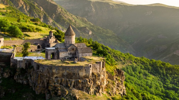 Tatev monastery, Armenia, where tourism is up 18.65 per cent.