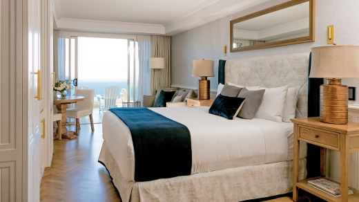 Ocean views: A room at the hotel.