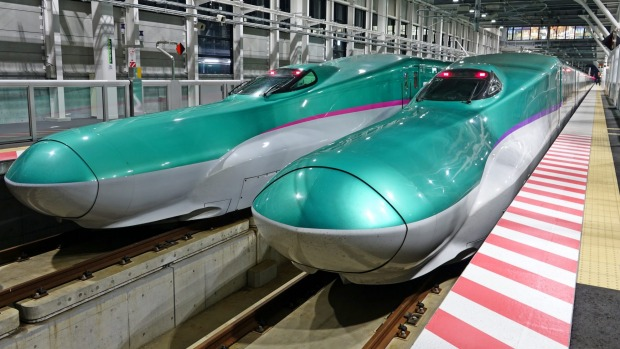 Japan's bullet trains: Hokkaido Shinkansen passes through the ...