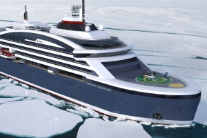 Artist's impression of Ponant's new icebreaker.