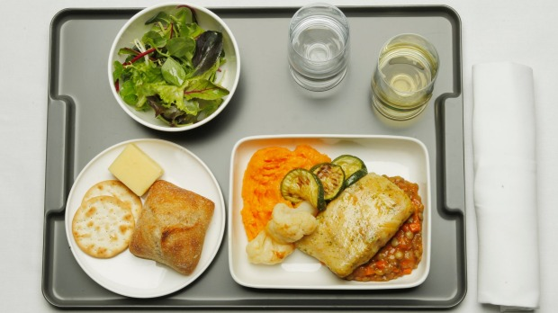 While you enjoy (or don't) your meal in economy class, the pilots will be eating something different.