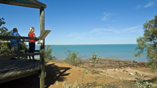 View from the lookout at the Broome Bird Observatory, overlookinbg Roebuck Bay.