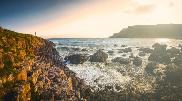 The Giant's Causeway is an area of about 40,000 interlocking basalt columns.