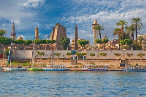 The River Nile at Luxor.