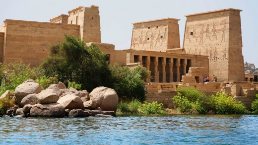 Temple of Philae at Aswan, Egypt.