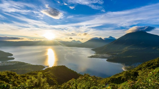 Sunrise over Lake Atitlan, Guatemala.