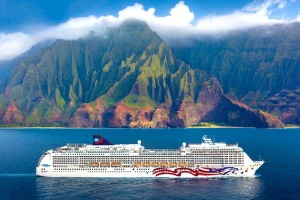 Pride of America cruising Hawaii.
