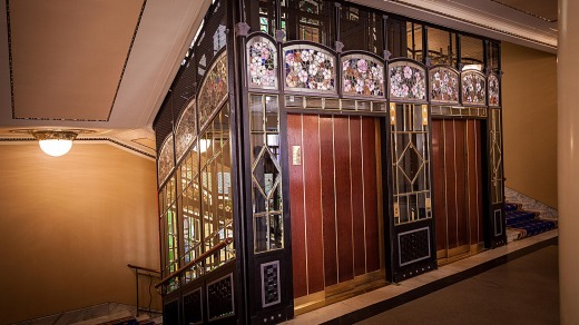 Lifts and stairwells in Metropol Hotel.