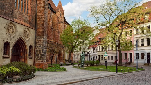 Nikolaiviertel (Nicholas quarter), a picturesque old district in the central part of Berlin, Germany.