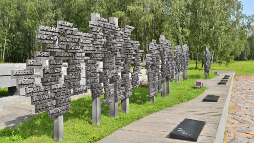 Trees of Life memorial commemorating 433 destroyed villages