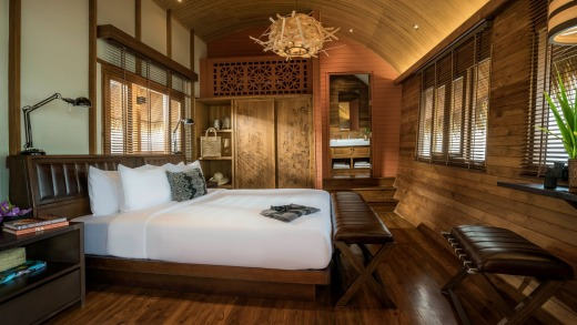 The master bedroom on board.