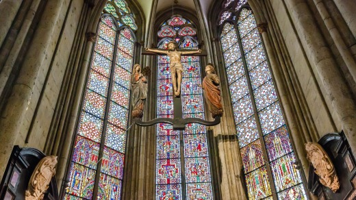 Interior of Cologne Cathedral.