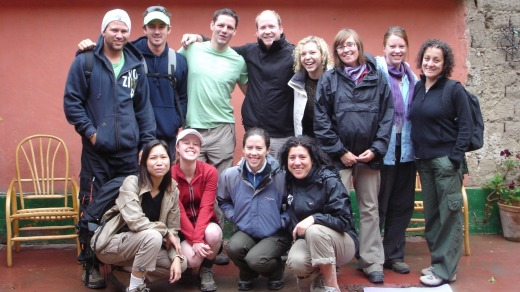 Ben Groundwater (centre, back row) is still friends with many of the people he travelled with 12 years ago.