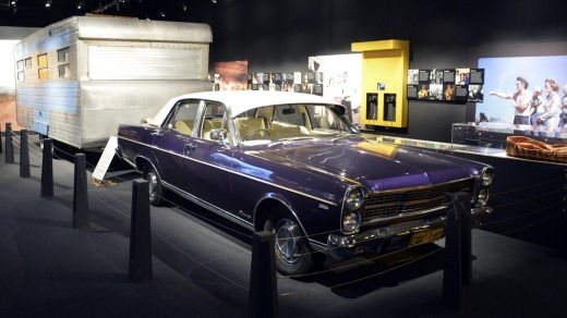 Old Purple,  a ZD model Ford Fairlane 500  bought by Slim Dusty in 1971, on display at the Slim Dusty Centre.
