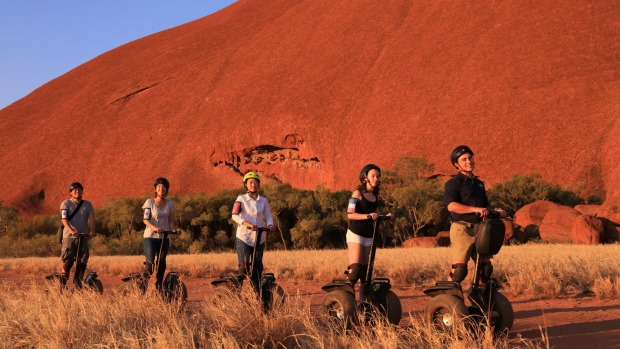 Segways take the puff out of a journey around the base of Uluru.