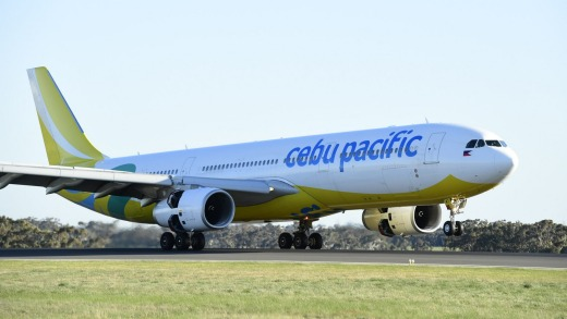 Cebu Pacific flies to Manila from Melbourne three times a week.