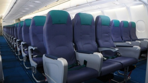 Inside CEB's Airbus A330-300.