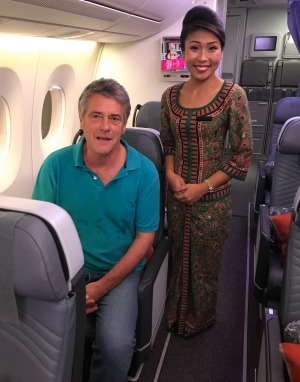Traveller writer Steve Meacham is on board the flight. At the rear of the plane the window seats are on their own.