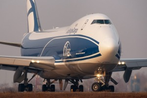 Boeing 747: The aerodynamic design of this popular aircraft resulted in its trademark teardrop-shaped hump.