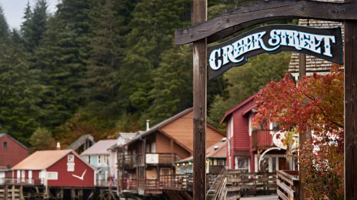 Creek Street, Ketchikan, Alaska.