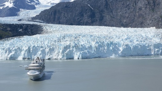 Crown Princess in Glacier Bay, Alaska.