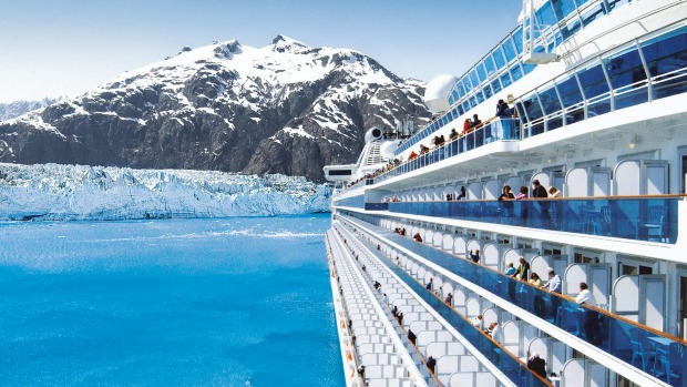 Alaska's mythical wild coastline: Princess Cruise.