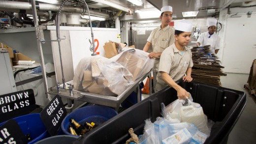 Recycling onboard Harmony of the Seas.