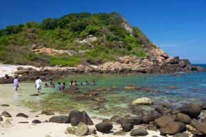Coral beach on Pigeon Island National Park, Trincomalee, Sri Lanka.