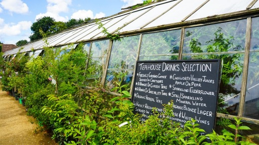 The nursery and cafe is a few miles of Kew's famous Royal Botanic Gardens.