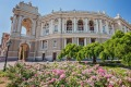 The beautiful Odessa Opera and Ballet Theatre.