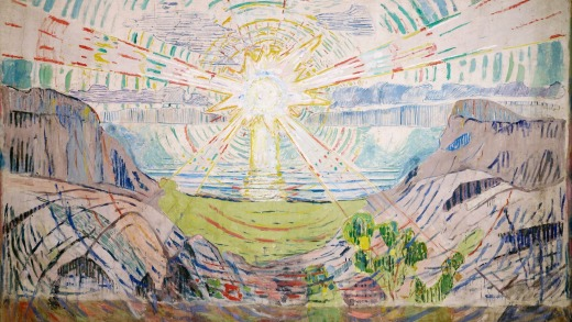 <i>The Sun</i>, by Edvard Munch. The painter felt he was at the peak of his artistic powers while living in Kragero.
