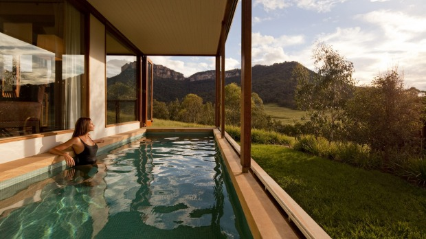 WOLGAN VALLEY, NSW. The landscape steals the show at Australia's most glamorous bush retreat at the foot of the Blue ...