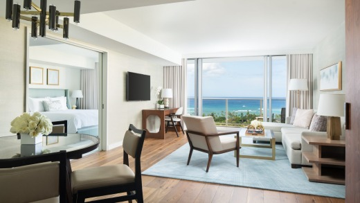 A room at Waikiki Ritz-Carlton Residences.