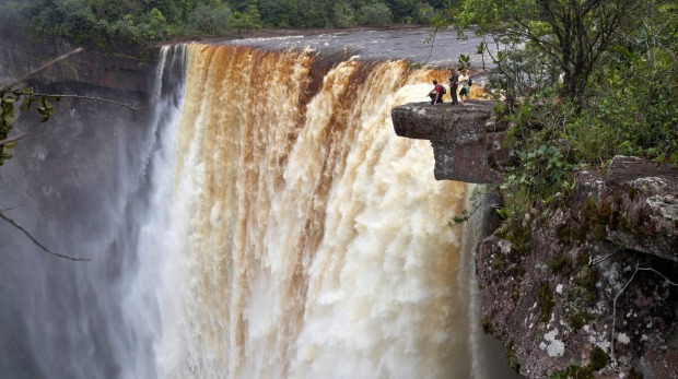 Kaieteur Falls, the world's largest single-drop waterfall.