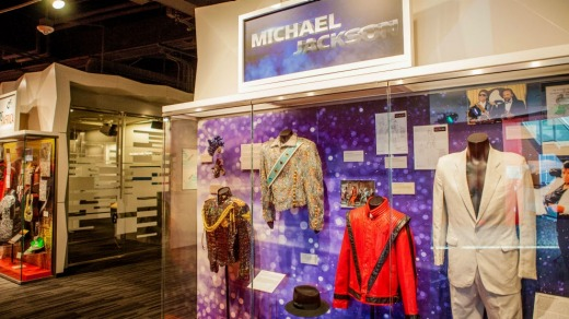 The Michael Jackson exhibition at the Grammy Museum.