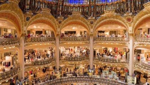 Straight to the Galeries Lafayette department store, to buy undies, combs, shampoo, toothpaste, a jacket and a very ...