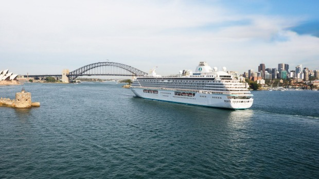 Crystal Serenity in Sydney Harbour.