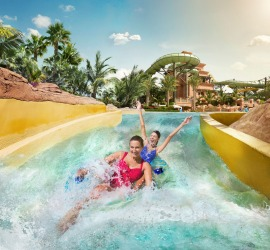 AQUAVENTURE, DUBAI There's a lot of variety at this water park. The underwater tunnels of The Lost Chambers aquarium ...
