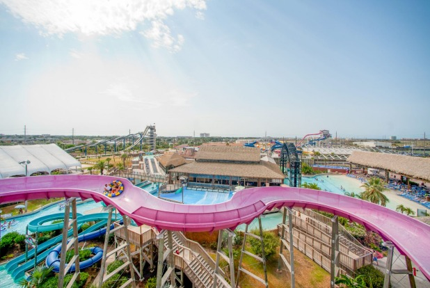 SCHLITTERBAHN WATERPARK, GALVESTON It's 123 steps to the top of Massiv, the world's tallest water slide at this Texas ...