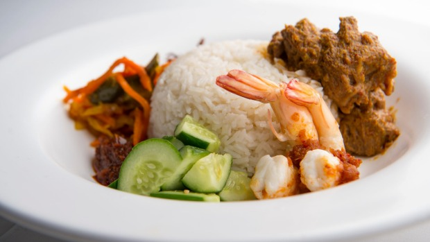 The king of breakfasts: Nasi Lemak.