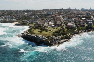 The dramatic Bronte coastline along the Bondi Beach to Coogee Beach walk.