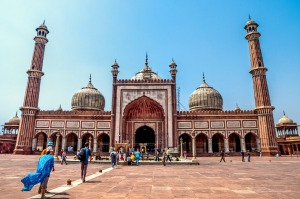 Delhi's magnificent red-coloured mosque, Jama Masjid.