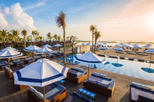 One of two swimming pools at Manarai Beach House at Sofitel Bali Nusa Dua Beach Resort.