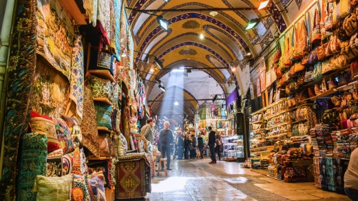 Construction on Istanbul's Grand Bazaar began more than 500 years ago.