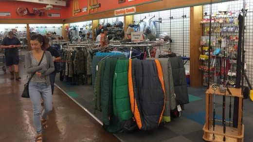 The centre sells anything from clothing through to outdoor gear.