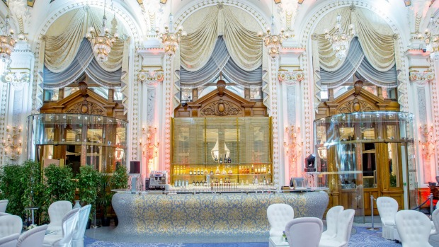 The bar in the White Salon at the Casino de Monte-Carlo