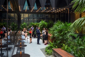 West Hotel Sydney's public areas are filled with light and greenery.