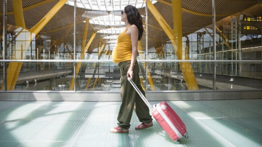 Travelling while pregnant has its pleasures and challenges.